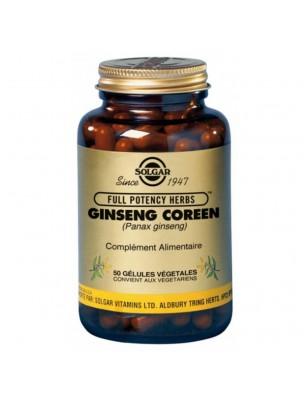 Ginseng Coréen - Vitalité 50 géllules - Solgar
