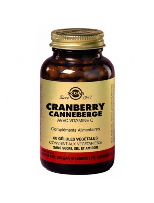 Cranberry 400mg - Trouble urinaire 60 géllules - Solgar