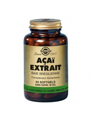 Acaï Extrait - Anti-âge 60 capsules - Solgar