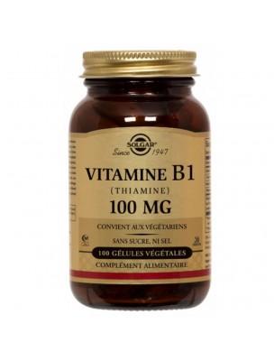 Thiamine (Vitamine B1) 100mg - Système nerveux 100 géllules - Solgar