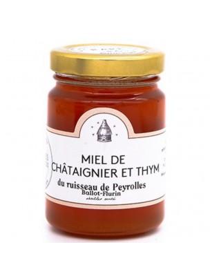 Miel de Châtaignier et Thym Bio 125g - Miel doux et rare - Ballot-Flurin