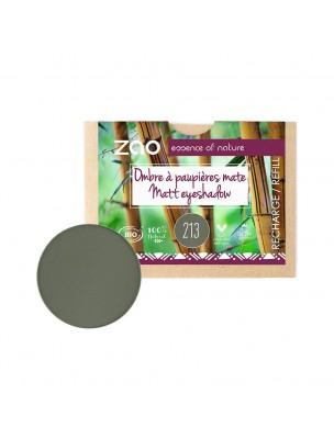Recharge Ombre à paupières Mate Bio - Vert militaire 213 3 grammes - Zao Make-up