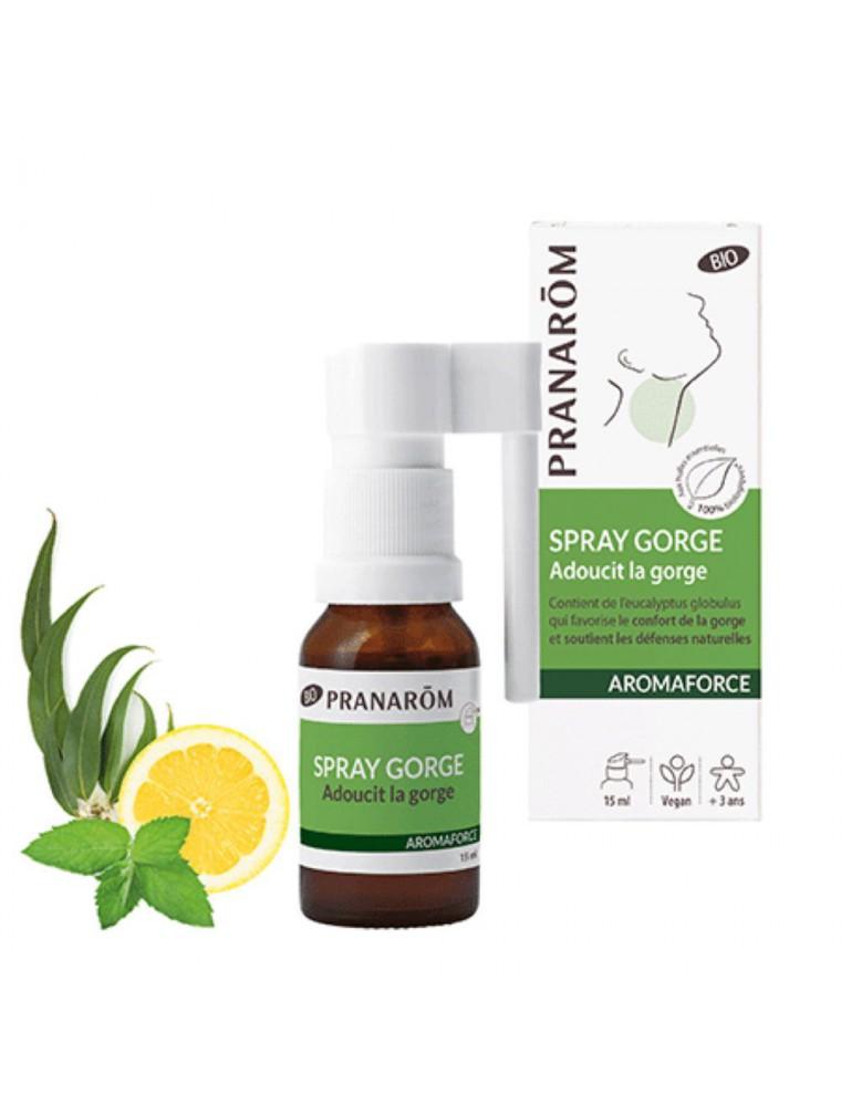 Aromaforce Spray Gorge Bio - Apaisant 15 ml - Pranarôm