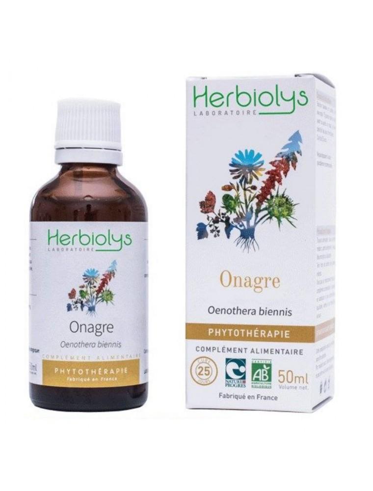 Onagre Bio - Peau Teinture-mère d'Oenothera biennis 50 ml - Herbiolys