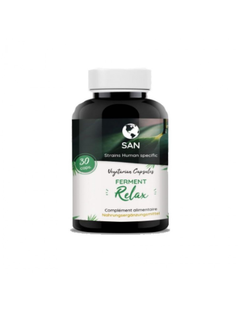 Probiotiques Relax - Flore intestinale et Passiflore 30 gélules - San
