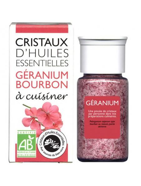 Géranium Bourbon - Cristaux d'huiles essentielles - 10g