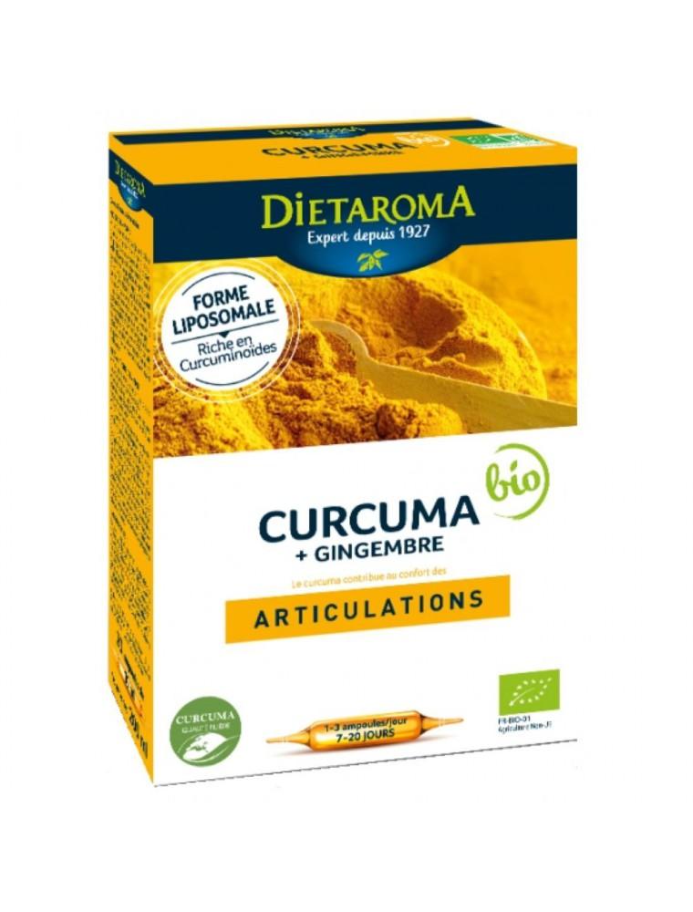 C.I.P. Curcuma Gingembre Bio - Articulations 20 ampoules - Dietaroma