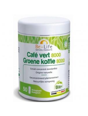 Café Vert 8000 Bio - Perte de poids 50 gélules - Be-Life