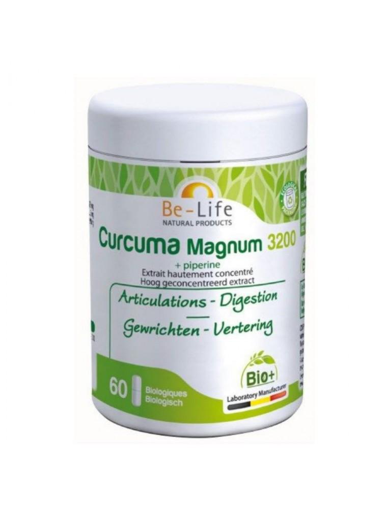 Curcuma et Poivre noir Magnum 3200 Bio - Articulations et Digestion 60 gélules - Be-Life