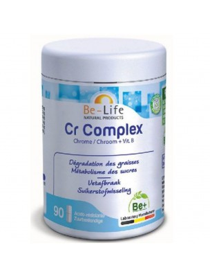 Cr Complex (Chrome et vitamines B2, B3) -Graisses et Sucres 90 gélules - Be-Life
