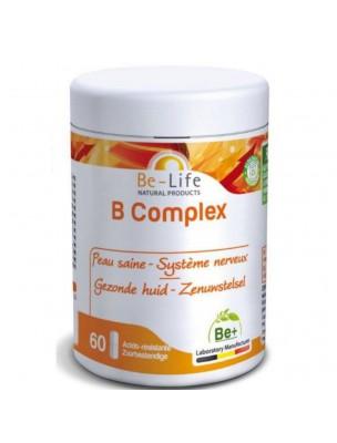 B Complex (Vitamines du groupe B) - Peau saine et Système nerveux 60 gélules - Be-Life