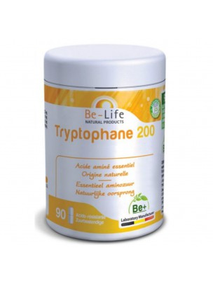 Tryptophane 200 mg - Acide aminé essentiel d'origine naturelle 90 gélules - Be-Life