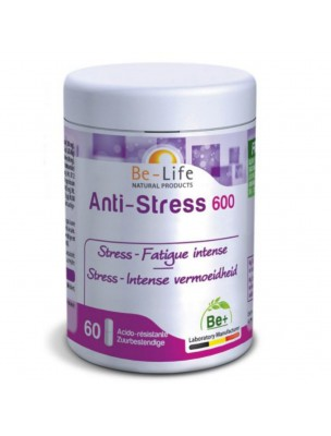Anti-Stress 600 - Nervosité et Fatigue chronique 60 gélules - Be-Life
