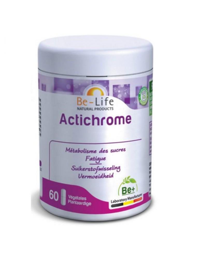 Actichrome - Glycémie normale et Energie 60 gélules - Be-Life
