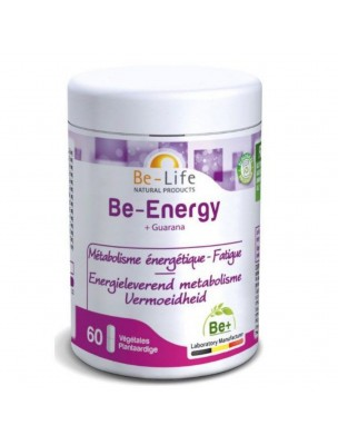 Be-Energy + Guarana - Métabolisme énergétique et Fatigue 60 gélules - Be-Life