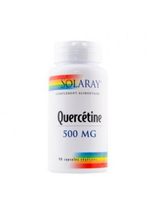 Quercetin 500 mg - Allergies et Antioxydant 90 capsules - Solaray