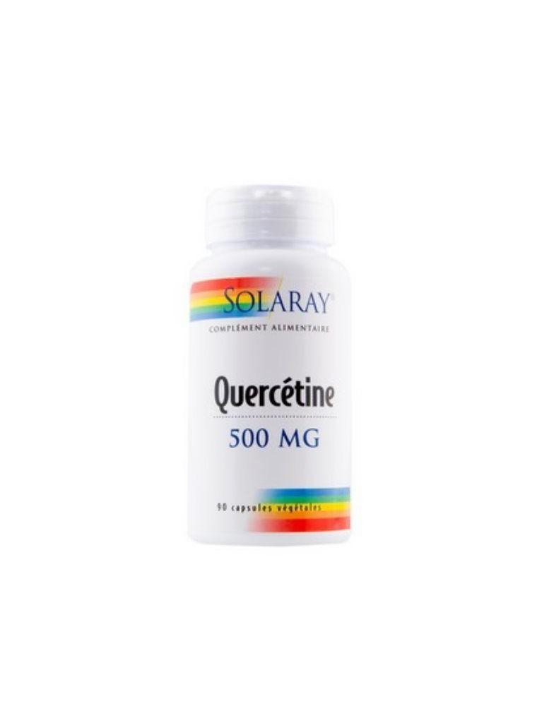 Quercetin 500 mg - Allergies et Antioxydant 90 capsules - Solaray