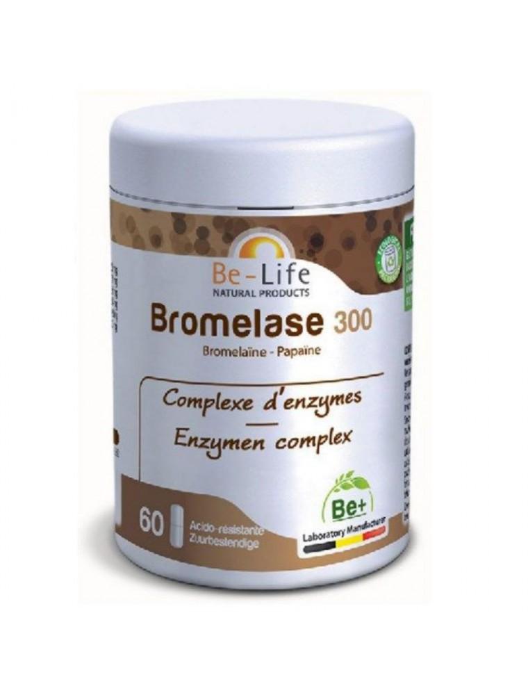 Bromelase 300 - Bromelaïne et Papaïne 60 gélules - Be-Life