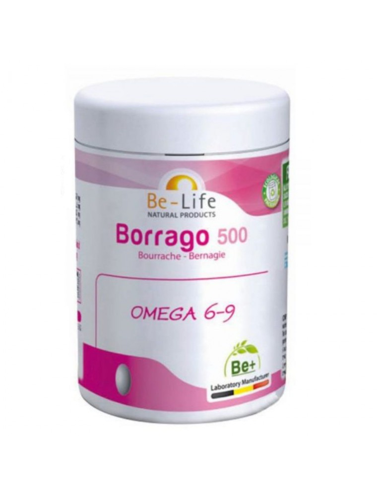 Borrago 500 Bio - Huile de Bourrache 60 capsules - Be-Life