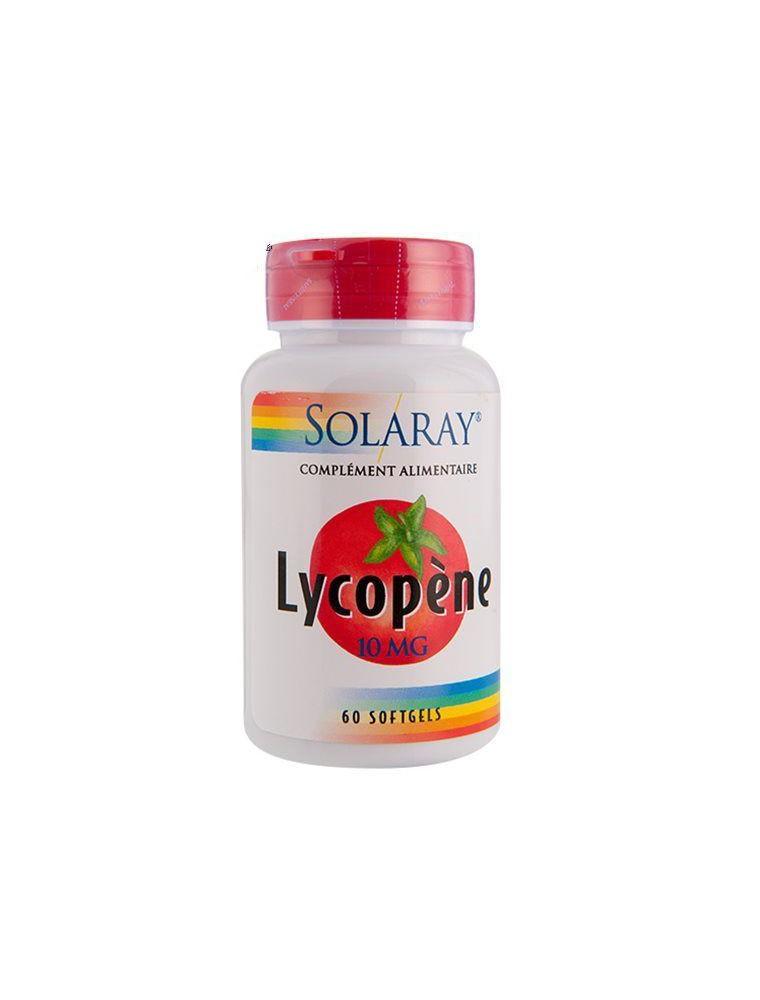Lycopene 10 mg - Antioxydant et Prostate 60 capsules - Solaray