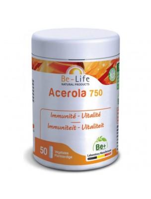 Acerola 750 - Immunité et Vitalité 50 gélules - Be-Life