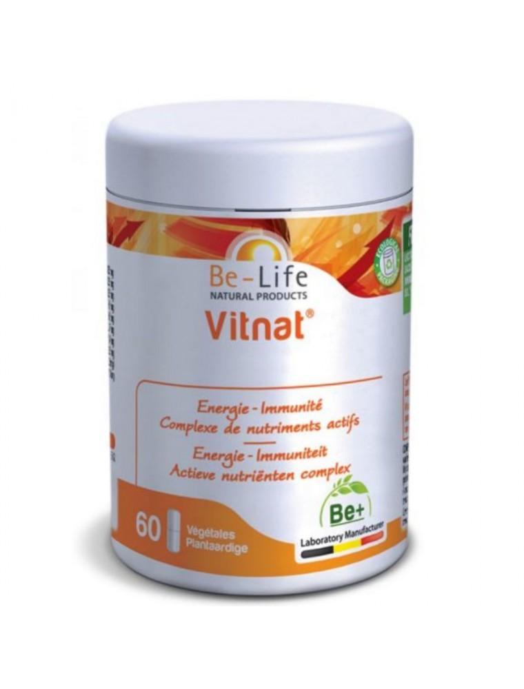 Vitnat - Multivitamines Immunité et Energie 60 gélules - Be-Life