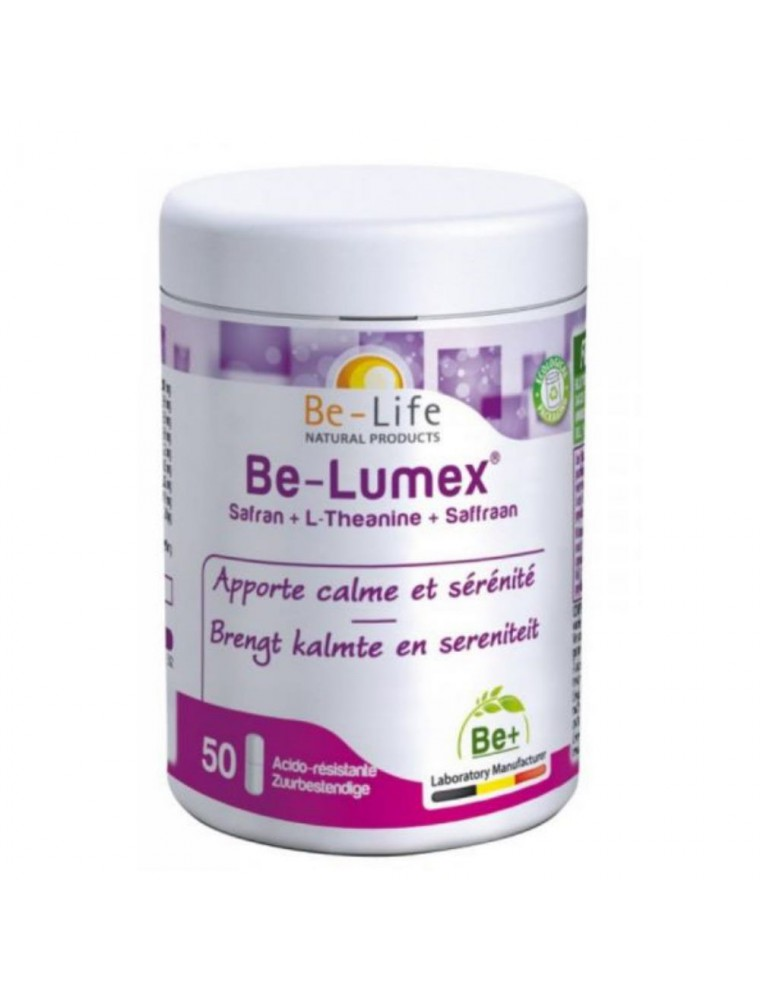 Be Lumex Safran et L-Theanine - Calme et Sérénité 50 gélules - Be-Life