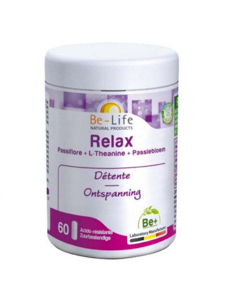 Relax Passiflore et Magnésium - Calme et Sommeil 60 gélules - Be-Life