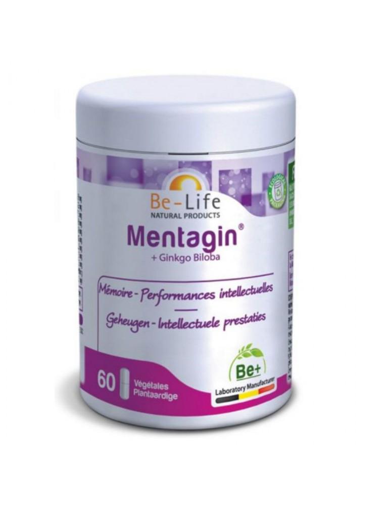 Mentagin et Ginkgo - Mémoire et Performances intellectuelles 60 gélules - Be-Life
