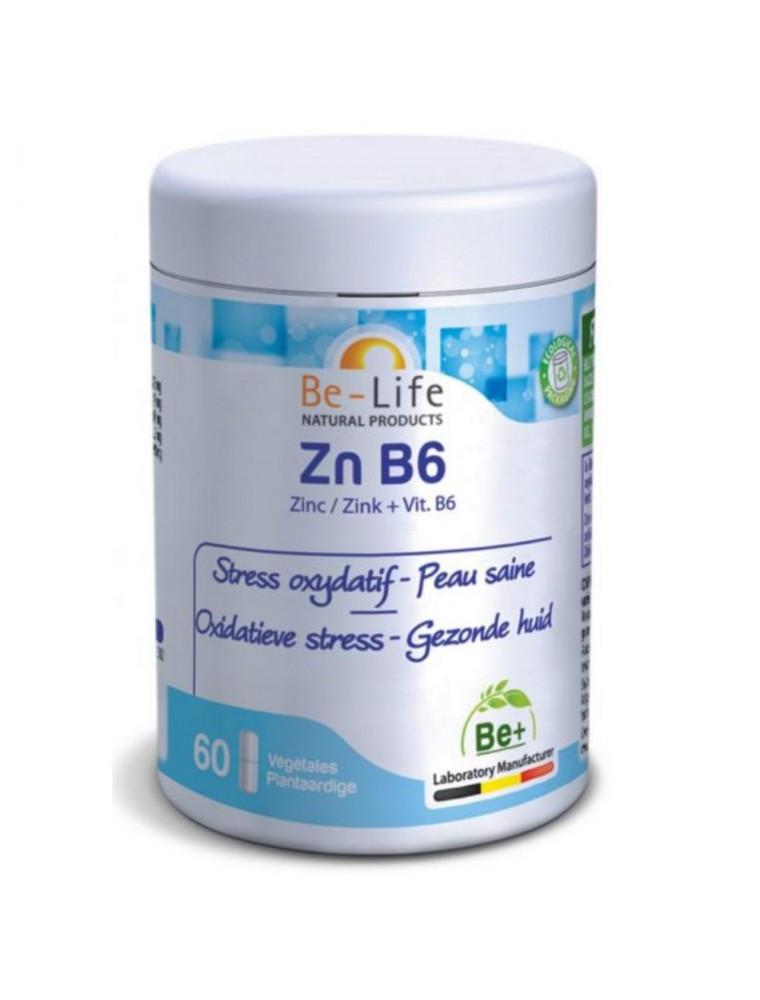 Zn B6 (Zinc et vitamine B6) -  Stress oxydatif et peau saine 60 gélules - Be-Life