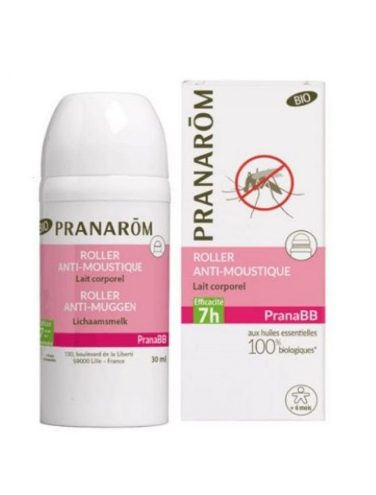 Pranabb Roller Anti-Moustiques Bio - Répulsif naturel 30 ml - Pranarôm