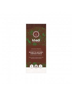 Coloration Noisette - Henné et plantes ayurvédiques en poudre 100g - Khadi