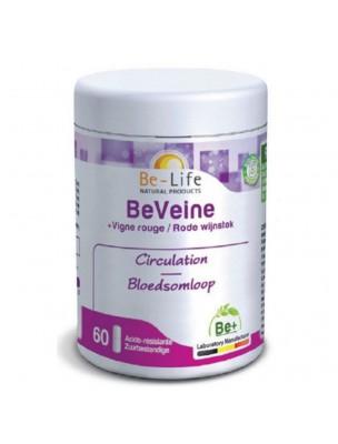 BeVeine Vigne rouge - Circulation et Jambes lourdes 60 gélules - Be-Life