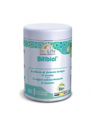 Bifibiol - Probiotiques 12 milliards de ferments lactiques 60 gélules - Be-Life