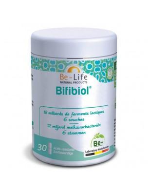 Bifibiol - Probiotiques 12 milliards de ferments lactiques 30 gélules - Be-Life