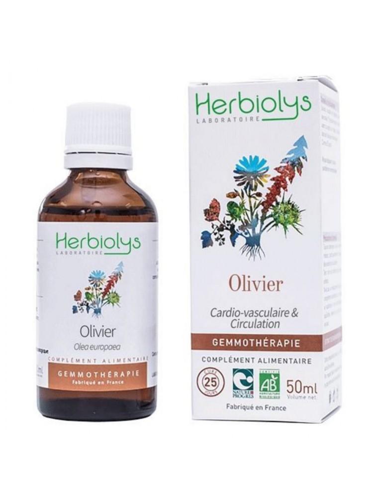 Olivier Macérât de jeune pousse Bio - Cardio-Vasculaire & Purification 50 ml - Herbiolys