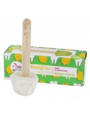 Dentifrice solide Vegan - Sauge Citron Bio 17 grammes - Lamazuna