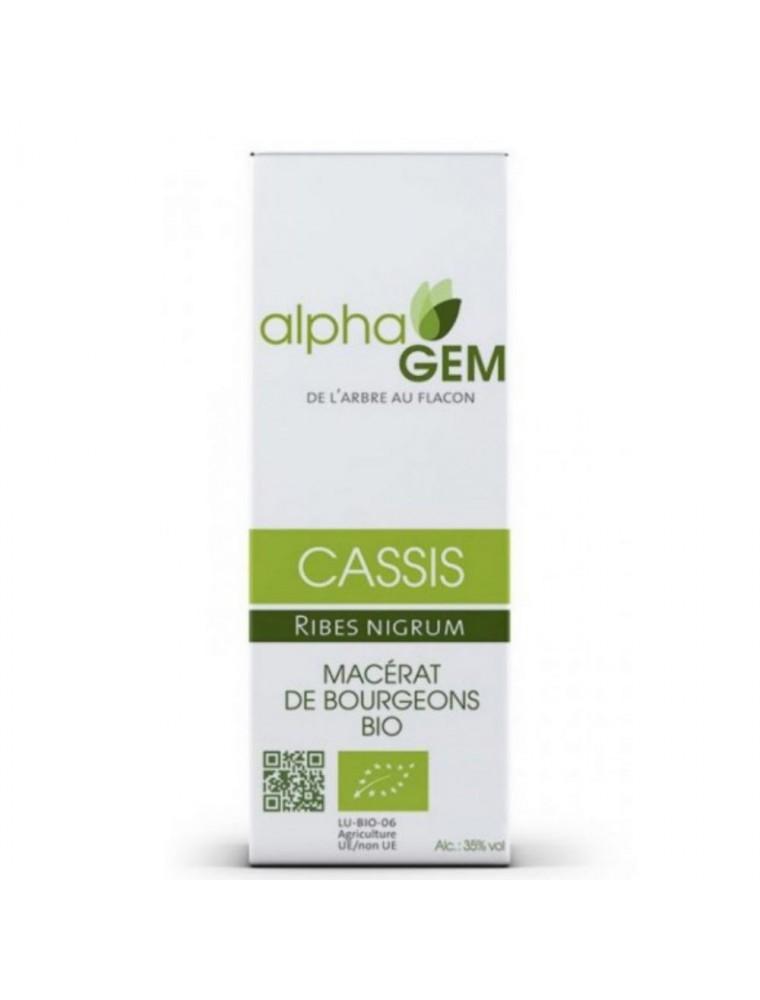 Cassis Macérat de bourgeons Bio - Ribes nigrum 15 ml - Alphagem