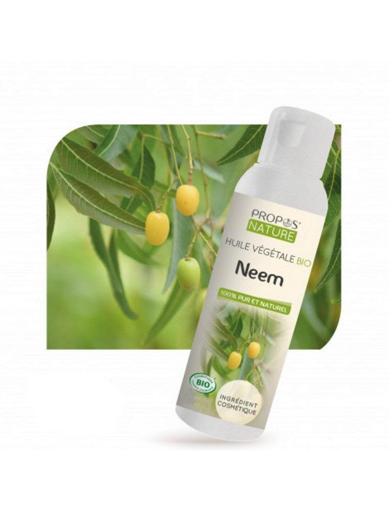 Neem Bio - Huile végétale de Melia azadirachta 100 ml - Propos Nature