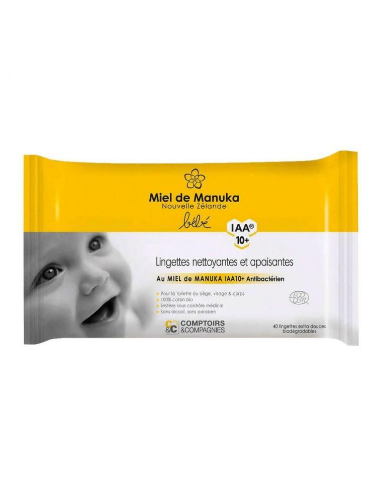 Lingettes Bébé Bio - Miel de Manuka IAA 10+ 75 ml - Comptoirs & Compagnies