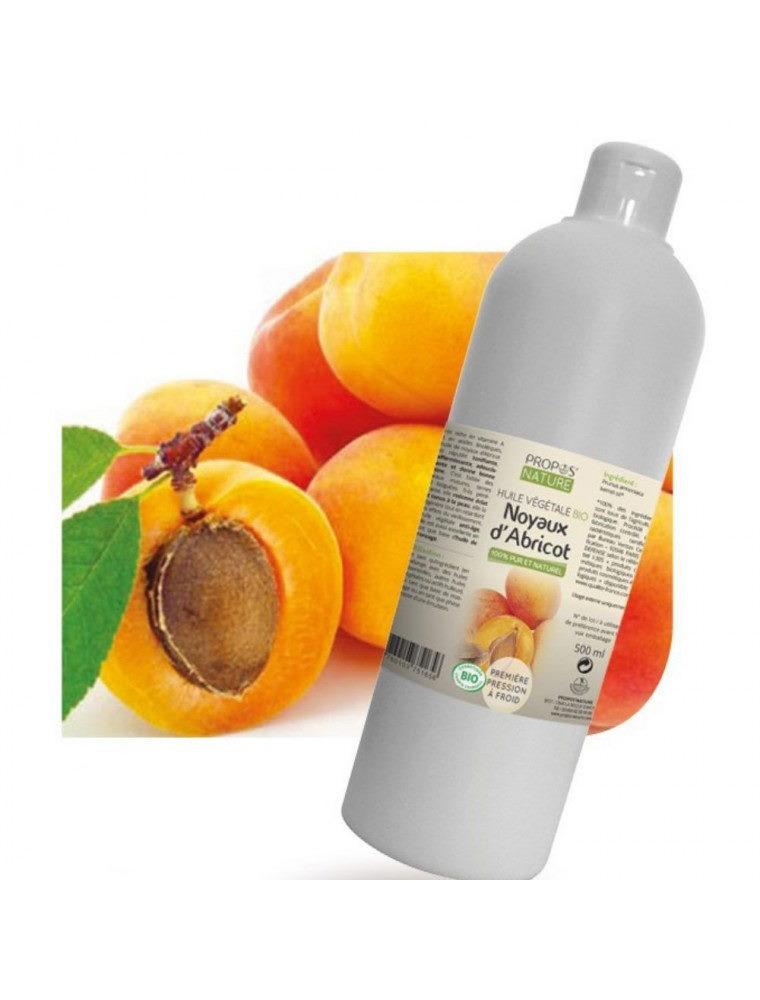 Noyaux d'abricot Bio - Huile végétale de Prunus armeniaca 500 ml - Propos Nature