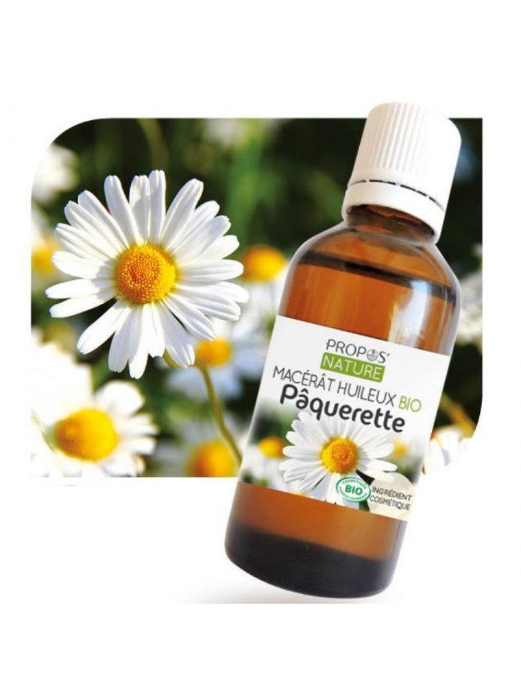 Pâquerette Bio - Macérât huileux de Bellis perennis 50 ml - Propos Nature