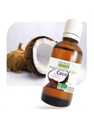 Coco Bio - Huile végétale de Coco nucifera 50 ml - Propos Nature