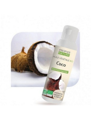 Coco Bio - Huile végétale de Coco nucifera 100 ml - Propos Nature