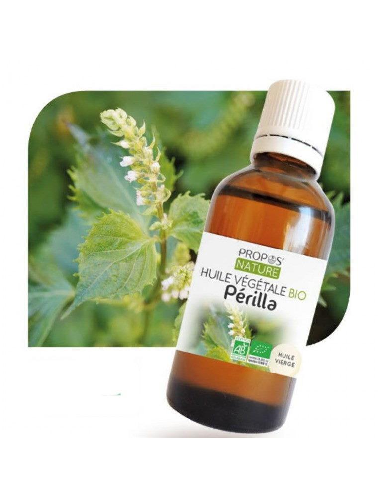 Périlla Bio - Huile végétale de Perilla ocymoides 50 ml - Propos Nature