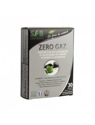 Zéro gaz - Charbon végétal et Huile essentielle de Menthe poivrée 30 gélules...