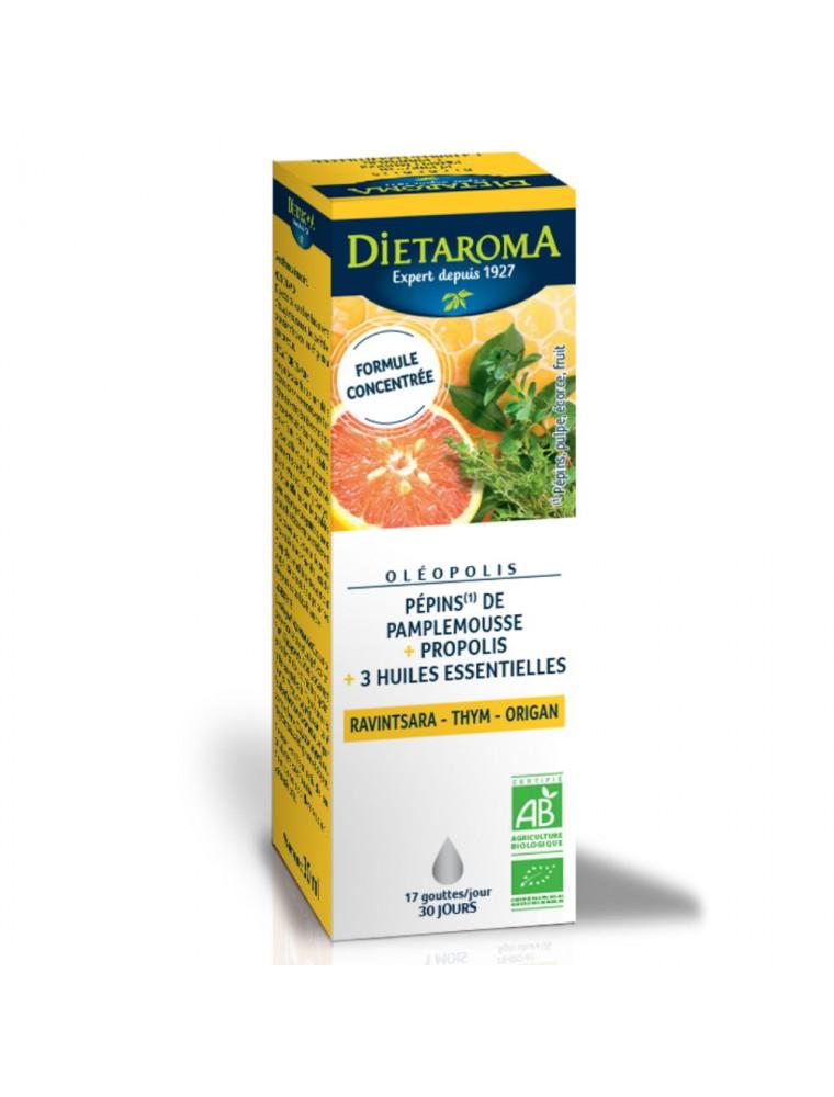 Oléopolis Bio - EPP, Propolis et huiles essentielles 30 ml - Dietaroma