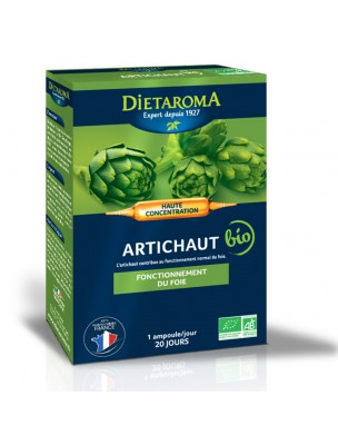 C.I.P. Artichaut Bio - Confort Hépatique 20 ampoules - Dietaroma