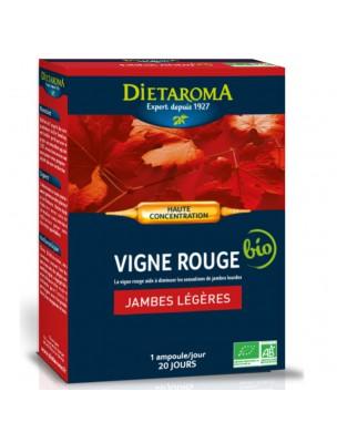 C.I.P. Vigne rouge Bio - Circulation 20 ampoules - Dietaroma