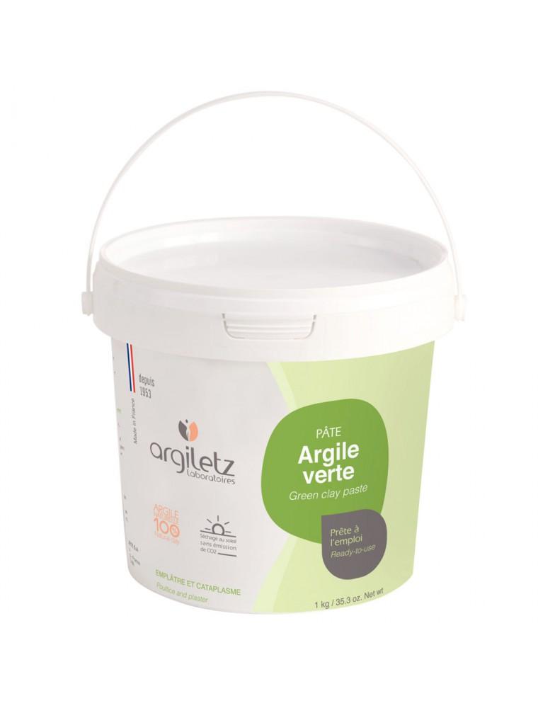 Pot d'argile verte prête à l'emploi - 1 kg - Argiletz
